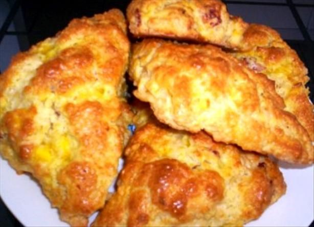 Bacon, Egg and Cheddar Scones from Food.com: This wonderful recipe is ...
