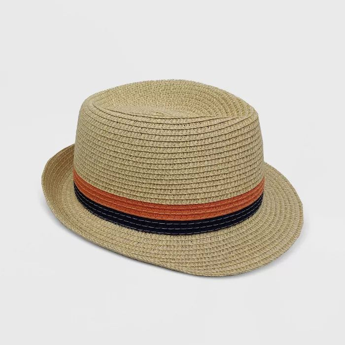 Amazon.com: Mud Pie Boys Straw Fedora, Navy: Clothing