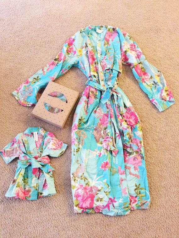 Matching set of mommy and newborn robe and a swaddle by comfymommy More