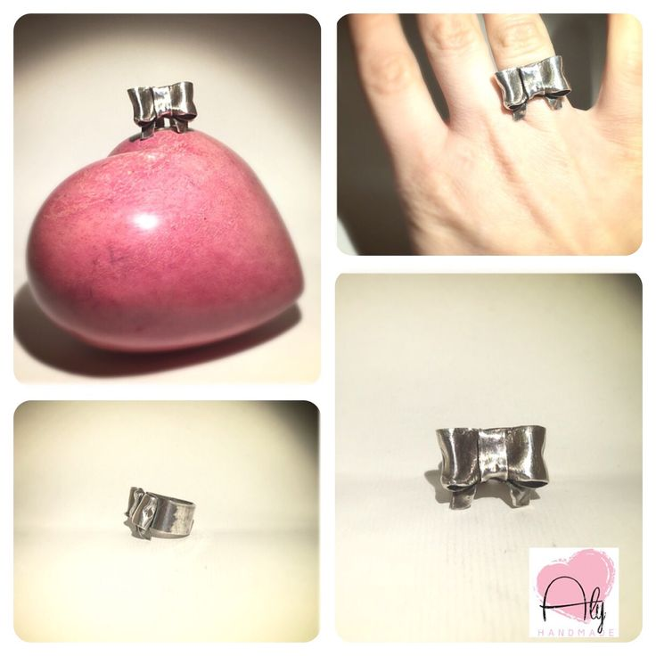 Grande fiocco.  #bow #fiocco #anello #ring #argento #silverclay #handmade #alyhandmade