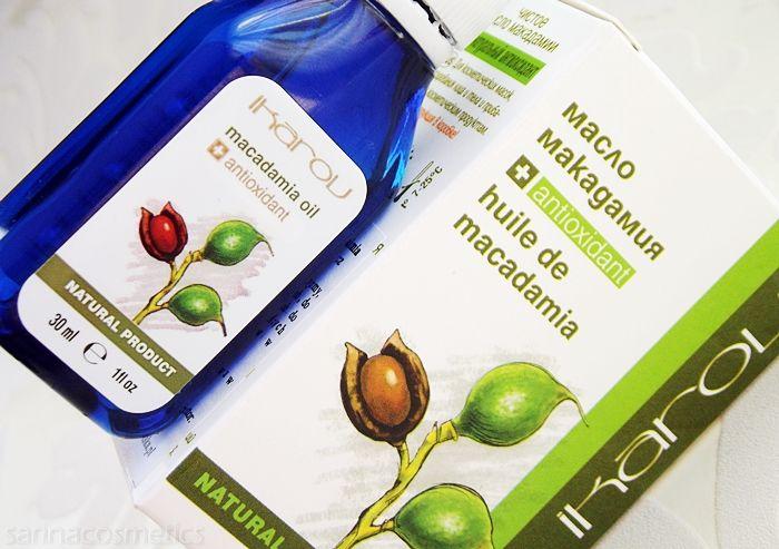 Czysty oleje makadamia Ikarov. Testowała Ewelina prowadząca blog sarinacosmetics.blogspot.com