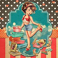 Digital Stamps, Scrapbooking, Crafts, Artisan Resources, cardMaking, Paper Crafts, Digital Crafting by The Paper Shelter Mad about Shoes - Digital Stamp - Kit includes:A zip file containing 6 digital image files in JPG and PNG formats. Each image file is at300dpiresolution. The PNG file comes on a transparent background and JPG on white background. The set comes with the digital stamp ready to color (outlines), as well as the colored image. Digital