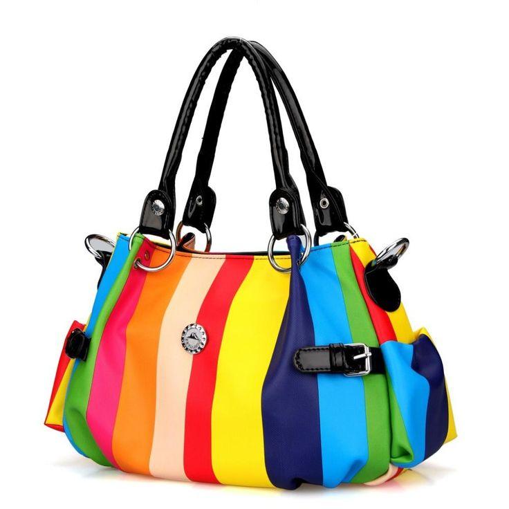 Mango Bolsa Feminina Women Silt Pocket Handbags Real Zipper Bolsa 2015 New Korean Women's Fashionable Hand Bag Boutique Stripe