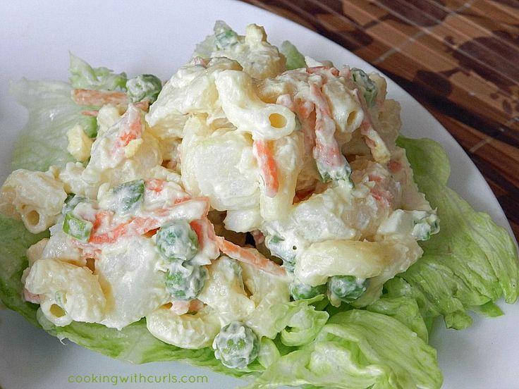 Hawaiian Potato Salad | cookingwithcurls.com