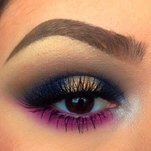 Pink and gold eyeshadow #smokey #dark #bold #eye #makeup #eyes #dramatic