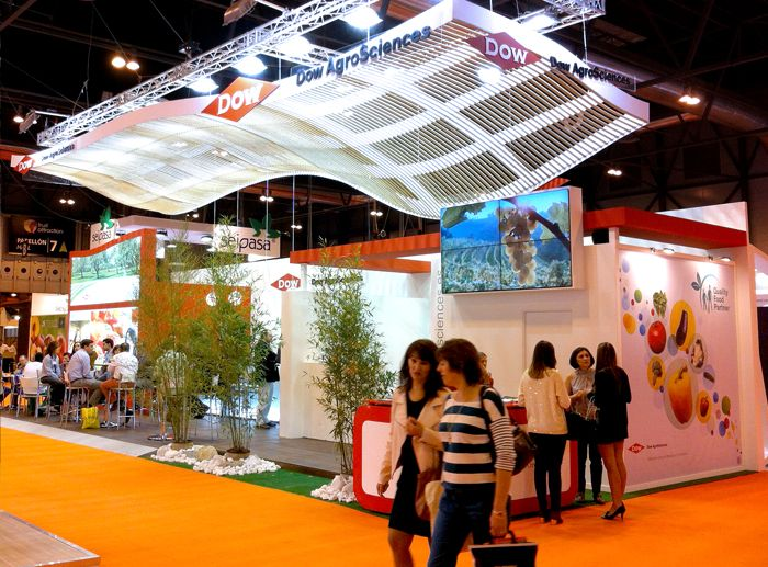 Decoración del stand de Dow AgroSciences para Fruit Attraction 2013.