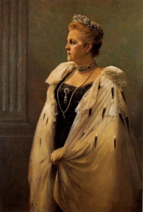 Queen Olga of Greece c. 1915 - Georgios Jakobides, Greek painter 1853-1932