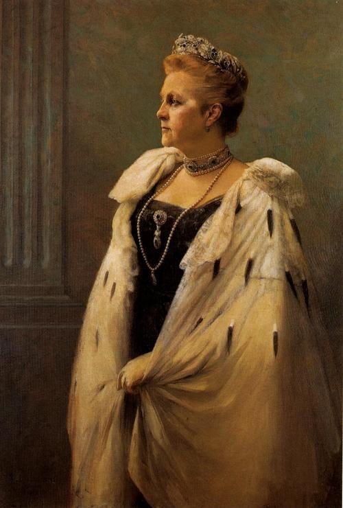 Queen Olga of Greece c. 1915 - Georgios Jakobides, Greek painter 1853-1932