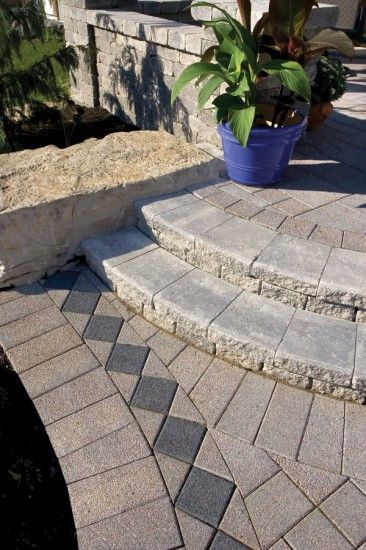 Unilock - Paver steps by Unilock with Series 3000                              …
