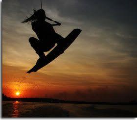 Girl Wakeboarding...I wana learn 2 wakeboard this summer!!!!!!