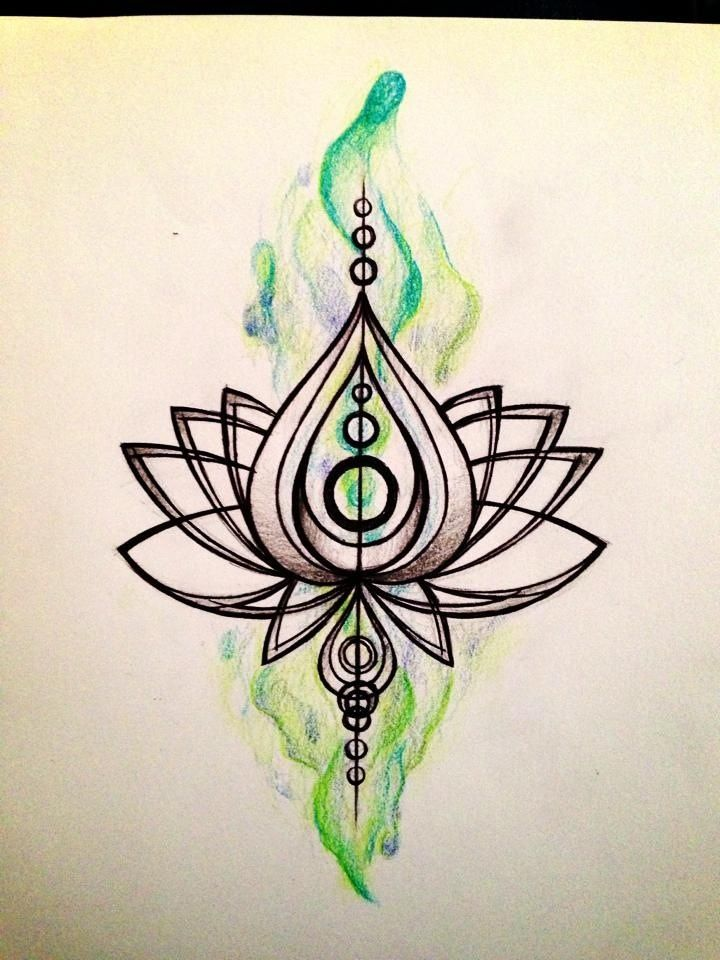 Lotus tattoo? by simisketches.deviantart.com on @deviantART