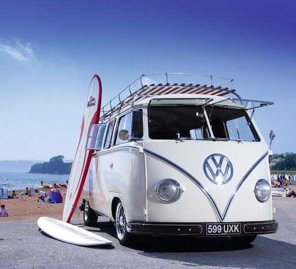 VW Transporter van, Volkswagen surf-van Type1 Minibus. | VW Bus | Pinterest | Volkswagen, Buses ...