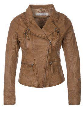 Oakwood Leather jacket - brown - Zalando.co.uk