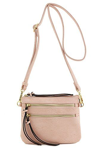 New Trending Make Up Bags: Multi Pocket Small Crossbody Bag (Light Pink). Multi Pocket Small Crossbody Bag (Light Pink)   Special Offer: $15.50      322 Reviews This multi pocket small crossbody bag makes easy to organize your everyday items.8″ (W) x 5.75″ (H) x 0.5″ (D)Zipper closureAdjustable shoulder strap with 24″ drop ...