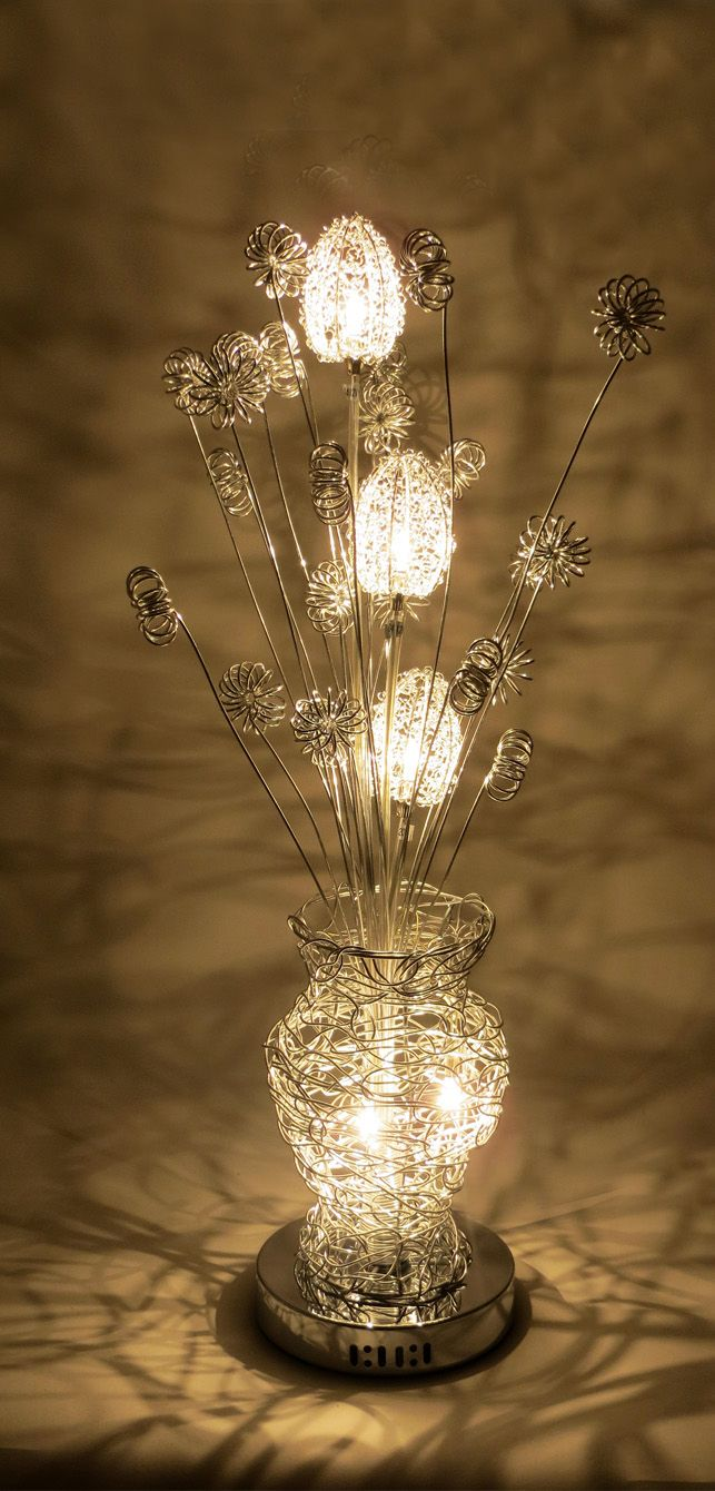 44 best wire table lamps images on pinterest wire table flower httpwirelampswlt3023 5silver greentooth Gallery