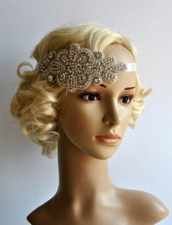 Crystal HeadbandRhinestone flapper Gatsby by BlueSkyHorizons