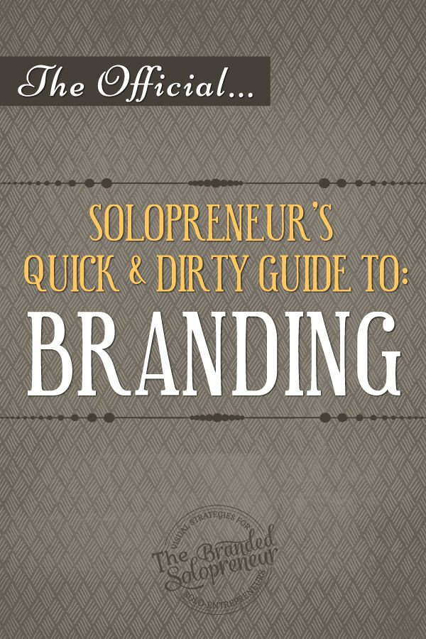 If you want to learn how to brand your business like a boss this is the guide for you! Click to snag your copy of 'A Solopreneur's Quick & Dirty Guide To Branding'. {opt-in required}
