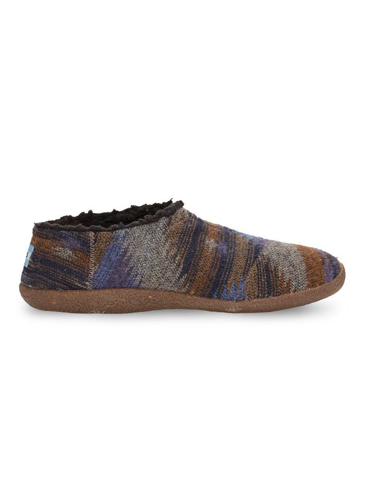 Make the end of the day feel like the end of the week - TOMS men's Blue Friday Wool Slippers