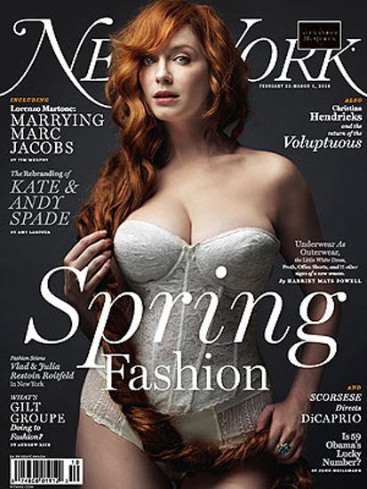 Mad Men - Christina Hendricks on New York Magazine Cover | The AMC stars of Mad Men as an attractive theme on famous magazine covers. #MadMen #Mad #Men #MagazineCovers