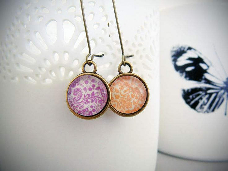 Double sided earrings - Lace collection http://songbirddesigns.mysupadupa.com/collections/lace/products/double-sided-earrings-lace-collection--7