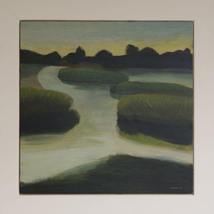 John Eaden - Haumoana Inlet, acrylic on canvas @ Visual Culture