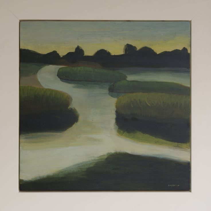John Eaden - Haumoana Inlet, acrylic on canvas @ Visual Culture