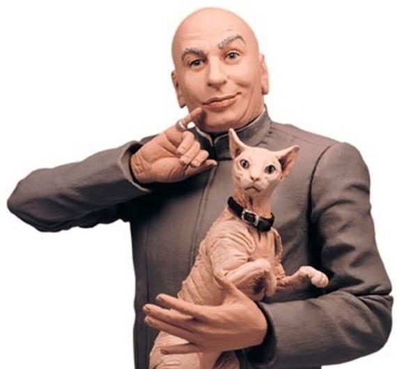 ".Mr. Bigglesworth, Dr. Evil's cat from the ""Austin Powers"" films (1997)"