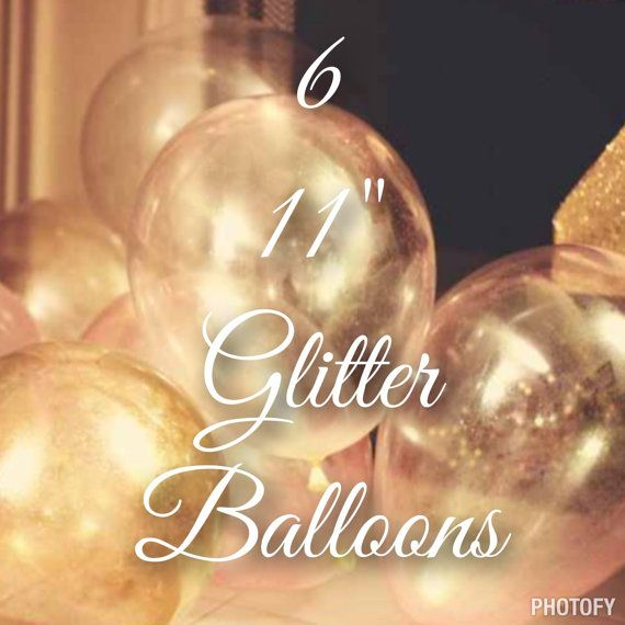 8 11 Glitter Balloons custom colors for your event  by HelloHelium