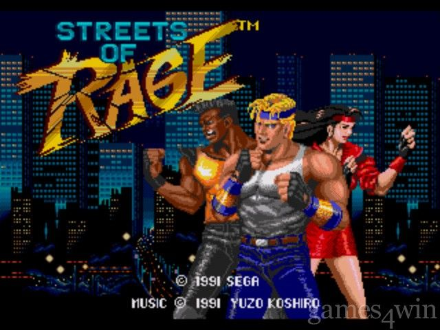 Streets of Rage Start Screen (for Sega Genesis). A fav game of mine.