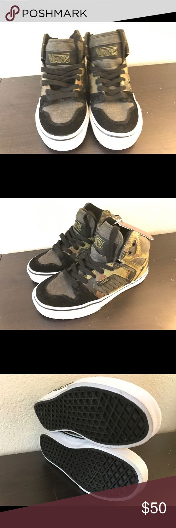 Boys Vans Camo High Tops, 2.5 Stylish Camo high top - perfect for the adventurous and fun loving kid Vans Shoes Sneakers