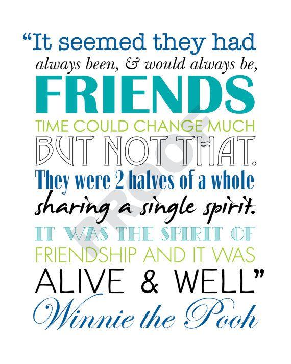 Printable WINNIE THE POOH Friendship Quote by JaydotCreative