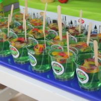 JELLY CUPS WITH JELLY WORMS