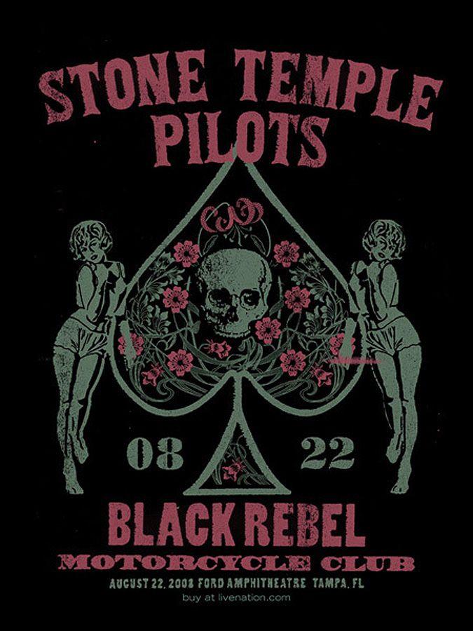 STP & BRMC concert poster