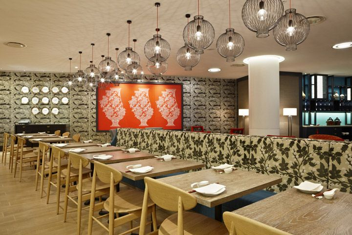 Mings Dim Sum restaurant at Crown Casino by Red Design Group, Melbourne