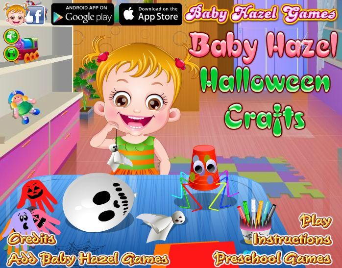 Baby Hazel has to make preparations for Halloween crafts making day. She needs your help in making Halloween crafts and decorate the class with them. Also help her in designing Halloween costumes. http://www.babyhazelgames.com/games/baby-hazel-halloween-crafts.html
