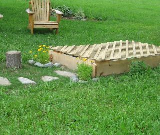 I like idea of lattice for sand box cover The Wonder Years: Our Outside Play Space