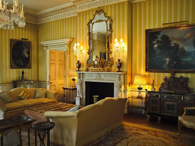 The Drawing Room In Hinton Ampner A Stately Home In