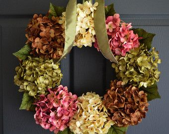 WREATHS Spring Wreaths Front Door Wreaths by HomeHearthGarden