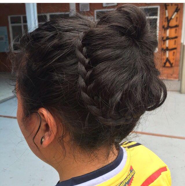 Braided bun!!! Te recoge todo el cabello