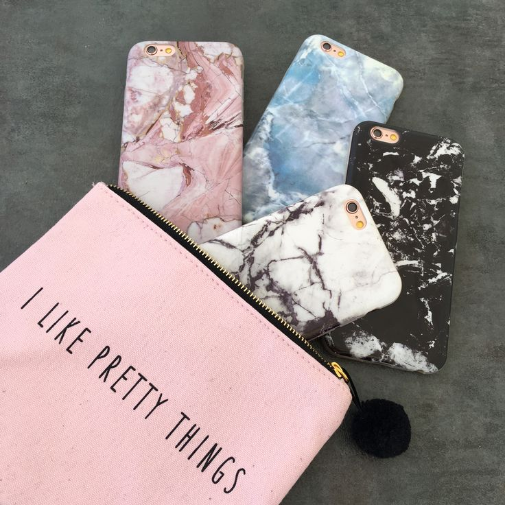 Marble case in Rose x Hampton Blue x Black Onyx x Black & White Contrast. Available for iPhone 6/6s and 6 Plus/6s Plus
