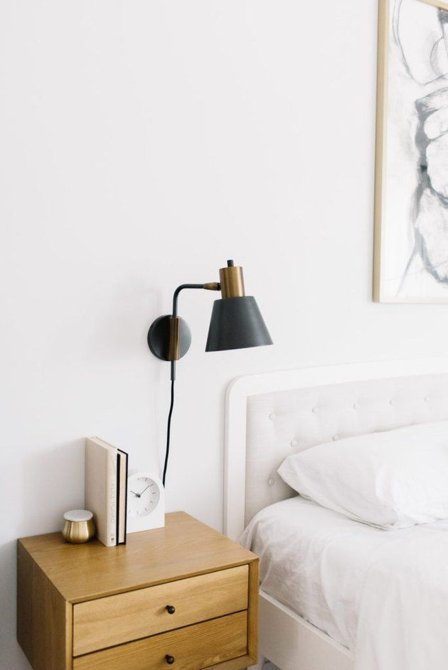Channel Your Inner Marie Kondo With These 6 Small Bedroom Organization Ideas Hunker Wall Sconces Bedroom Small Bedroom Organization Sconces Bedroom