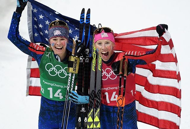 Its been an amazing day for the women of #TeamUSA with history-making medals in skiing snowboarding speed skating and bobsled. Pictured here are skiers @jessiediggins and @kikkanimal the first Americans to win Olympic gold in cross country Major congrats! : @gettyimages #Olympics #PyeongChang2018 via WOMEN'S HEALTH MAGAZINE official Instagram - #Beauty and #Fashion Inspiration - Beautiful #Dresses and #Shoes - Celebrities and Pop Culture - Latest Sales and Style News - Designer Handbags and…