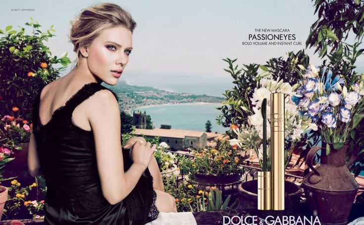 """Scarlett Johansson's eye makeup in this Dolce & Gabbana """"Passioneyes"""" Campaign :)"""