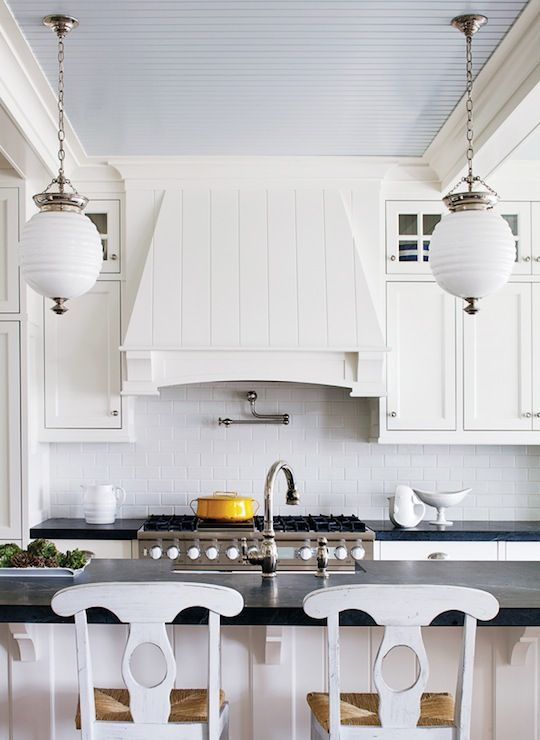 Cottages Kitchens, Kitchens Design, Blue Interiors, Beadboard Ceilings