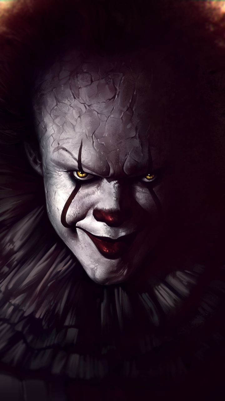 Pennywise, IT (2017) movie, joker, art wallpaper Scary