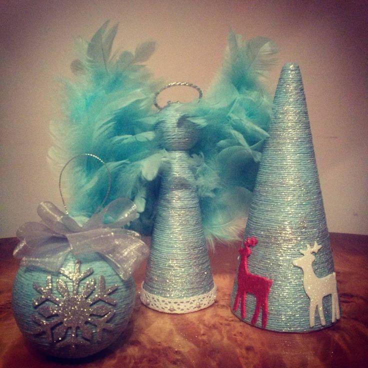 #christmastree#blue#angel#Christmasball#aniol#bombki#choinka#handmade#handmadechristmasornaments#derr#star#