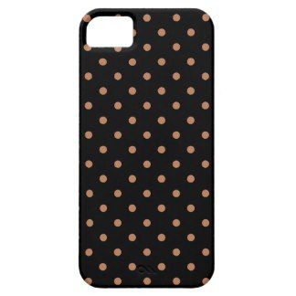 Black And Light Brown Polka Dots iPhone 5 Cover