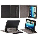 #Elettronica #7: Premium Custodia in pelle Supporti Stand Con Modalità Sospensione Per Lenovo IdeaPad Yoga Tablet (10 Zoll HD) B8000 - Nero