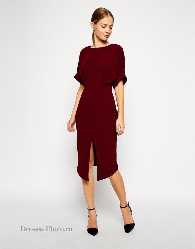 платье бордового цвета