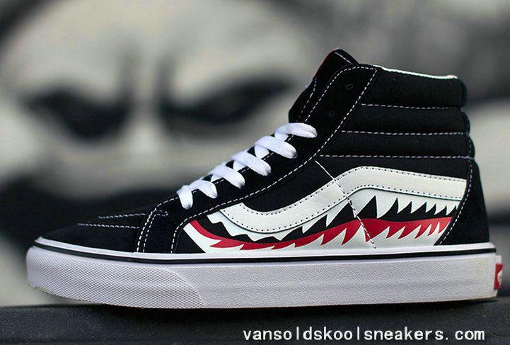 Sneakers HOT VANS X BAPE SHARK MOUTHS